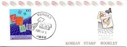 KOREA SOUTH, 1991, Booklet Philatelic Center 87, Philatelic Week - Corea Del Sud
