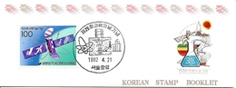 KOREA SOUTH, 1992, Booklet Philatelic Center 92, Science Day 25 Years - Corea Del Sud