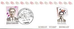 KOREA SOUTH, 1992, Booklet Philatelic Center 93, Patriot Pong-Gil Yoon - Corea Del Sud