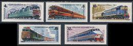 Soviet Unie CCCP Russia 1982 Mi 5175 /9 YT 4907 /1 ** Russian Locomotives / Russisch Lokomotiven - 1923-1991 USSR