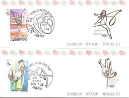 KOREA SOUTH, 1992, Booklet Philatelic Center 102/03, Olympics Barcelona - Corea Del Sud