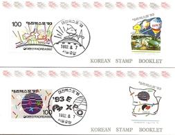 KOREA SOUTH, 1992, Booklet Philatelic Center 104/05, Expo 93 - Corea Del Sud