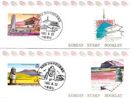KOREA SOUTH, 1992, Booklet Philatelic Center 106/07, UPU-Congress - Corea Del Sud