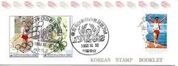 KOREA SOUTH, 1992, Booklet Philatelic Center 110, Olympics (Marathon) - Corea Del Sud
