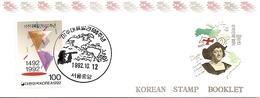 KOREA SOUTH, 1992, Booklet Philatelic Center 111, Discovery Of America - Corea Del Sud