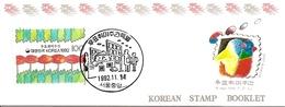KOREA SOUTH, 1992, Booklet Philatelic Center 112, Philatelic Week - Corea Del Sud