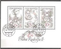 Czech Republic 1997 Emperor Rudolf II , Mi Bloc 4 Cancelled(o) - Gebraucht