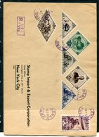 TANNU TUVA YR 1935,SC 71//91 PARTIAL SET ON LARGE REGISTERED COVER #446 TO NEW YORK - Tuva
