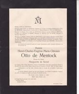 KNOCKE-sur-Mer Henri OTTO De MENTOCK époux De SERRET  72 Ans 1931 Famille FRANTZEN - Décès