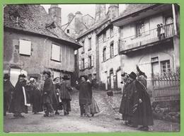 Rare Photographie De Presse Mur De Barrez Danse Animé La Bourrée Fète Aveyron - Ethniques, Cultures
