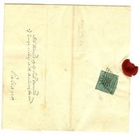 Kirchenstaat Brief Mit Marke Und Siegel ( Leicht Beschädigt) Vom 25. 9. 1858 - ...-1929 Préphilatélie