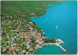 LOVRAN, Croatia, Aerial View, 1960s-70s, Unused Postcard [21231] - Croatia