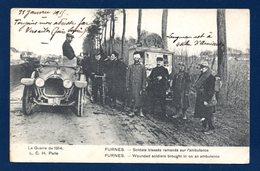 Furnes. Soldats Blessés Ramenés Sur L'ambulance. Franchise 5è Regiment Du Génie -24è Compagnie. 1915 - Veurne