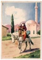 ALBANIE/ALBANIA - CONTADINA CHE SI RECA AL MERCATO DI TIRANA /MOSCHEA / MOSQUE / ILLUSTRATORE LUBATTI - Albania