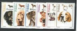 POLAND 1989 MICHEL 3197-3202 SET MNH - Dogs