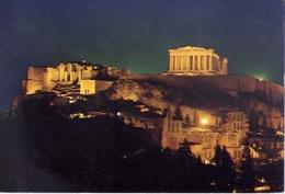 Athenes - Acropolis By Night - 1287 - Formato Grande Viaggiata – E 5 - Grecia