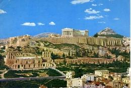 Athenes - View Of The Acropolis - Formato Grande Viaggiata – E 5 - Grecia