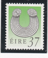 Ireland 1990-95 MNH Scott #783 37p Gleninsheen Collar Art Treasures - 1949-... République D'Irlande