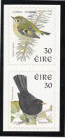 Ireland 1998-99 MNH Scott #1115a Pair 30p Goldcrest, Blackbird - Birds - 1949-... République D'Irlande