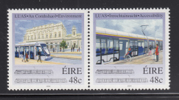 Ireland 2004 MNH Scott #1558a Pair 48c Inauguration Of LUAS Tram System, Dublin - 1949-... République D'Irlande