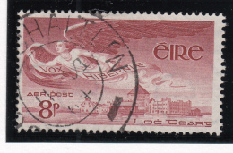 Ireland 1948-65 Used Scott #C4 8p Angel Over Lough Derg - Poste Aérienne