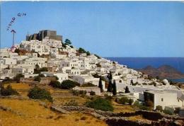 Chora And The Monastery Western View - Formato Grande Viaggiata – E 5 - Grecia