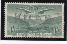 Ireland 1948-65 Used Scott #C5 1sh Angel Over Glendalough - Poste Aérienne