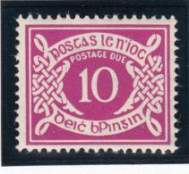 Ireland 1940-70 MH Scott #J13 10p Numeral - Timbres-taxe