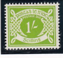 Ireland 1940-70 MH Scott #J14 1sh Numeral - Timbres-taxe