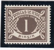 Ireland 1971 MNH Scott #J15 1p Numeral - Timbres-taxe