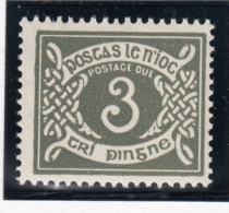 Ireland 1971 MNH Scott #J17 3p Numeral - Timbres-taxe