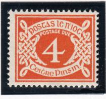 Ireland 1971 MNH Scott #J18 4p Numeral - Timbres-taxe