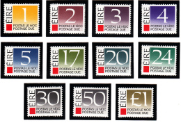 Ireland 1988 MNH Scott #J37-#J47 Set Of 11 Numerals - Timbres-taxe