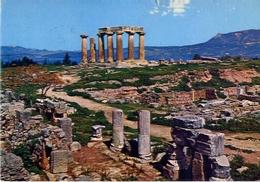 Corinth - Temple Of Apollo - Formato Grande Viaggiata – E 5 - Grecia