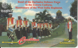 BARBADOS ISL.(GPT) - Defense Force Band, CN : 88CBDA(normal 0, Ls), Tirage 24000, Used - Barbades