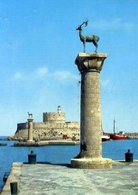 Rhodes - Lighthouse And Entr Of The Small Harbour - Formato Grande Viaggiata – E 5 - Grecia