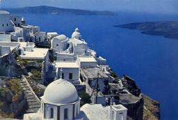 Thpyra - Partial View Of Phira - Formato Grande Viaggiata – E 5 - Grecia