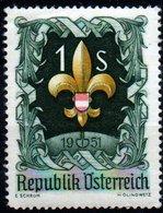 AUSTRIA 1951 Scout Jamboree 1s Mint - 1945-60 Unused Stamps