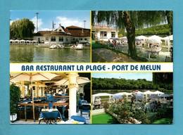 77 Seine Et Marne Melun Restaurant La Plage Port De Melun Carte Muktivues - Melun
