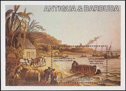 Antigua 1984 Abolition Of Slavery Souvenir Sheet Unmounted Mint. - Antigua And Barbuda (1981-...)