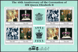 Antigua 1993 Coronation Anniversary Sheetlet Unmounted Mint. - Antigua And Barbuda (1981-...)