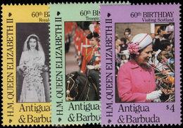 Antigua 1986 60th Birthday Of Queen Elizabeth Unmounted Mint. - Antigua And Barbuda (1981-...)