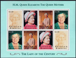 Antigua 1995 95th Birthday Of Queen Mother Sheetlet Unmounted Mint. - Antigua And Barbuda (1981-...)