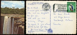 495 - BRITISH GUYANA 1966 Keieteur Falls. Sent To Canada. Eagle Bird Stamp - Postcards