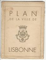 Plan De La Ville De Lisbonne * 1940 * Some Cuts - Cartes Topographiques