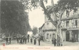 """.CPA  FRANCE 34 """"  Pézenas, Avenue De La Promenade """" - Pezenas"""