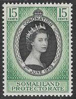 Somaliland Protectorate SG136 1953 Coronation 15c Unmounted Mint [37/30902/2D] - Somaliland (Protectorate ...-1959)