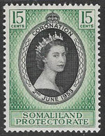 Somaliland Protectorate SG136 1953 Coronation 15c Unmounted Mint [37/30902/2D] - Somaliland (Protettorato ...-1959)