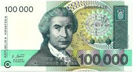 CROATIA - 100 000 Dinara - 30/05/1993 - P 27 - Unc. - Série B8 - R. Boskovic / Mother - Croatie Kroatien - 100000 - Croatia