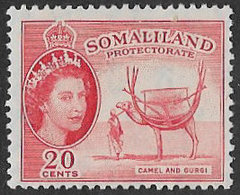 Somaliland Protectorate SG140 1953 Definitive 20c Mounted Mint [37/30907/2D] - Somaliland (Protectorate ...-1959)